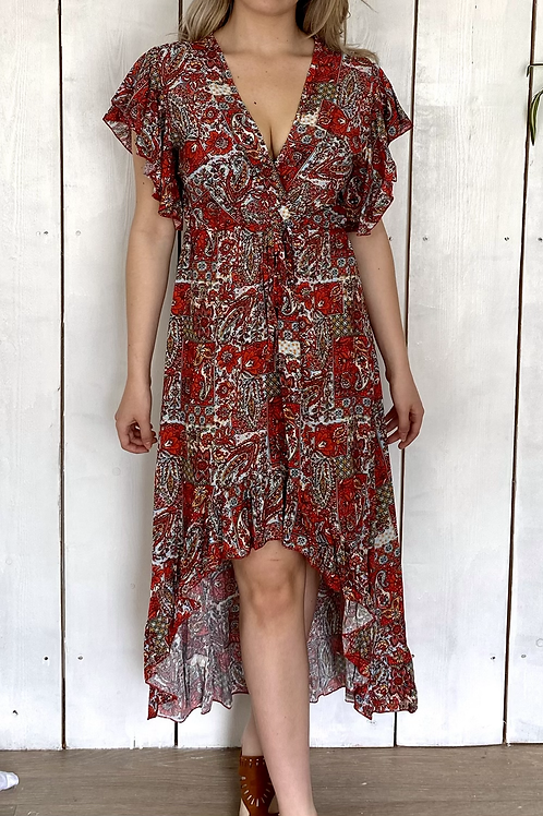 Paisley High Low Dress
