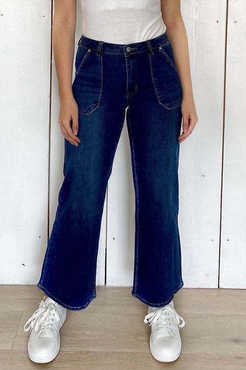 Dark Denim Wide Leg Jeans