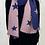 Thumbnail: Blue/ Pink Soft Ribbed Star Scarf