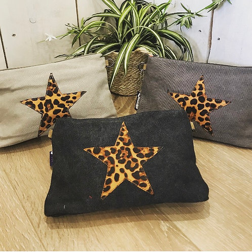 Canvas star clutch bag