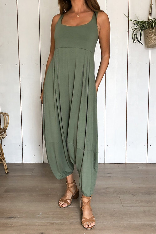 Soft and Stretchy Jumpsuit With Elasticated Leg Cuff