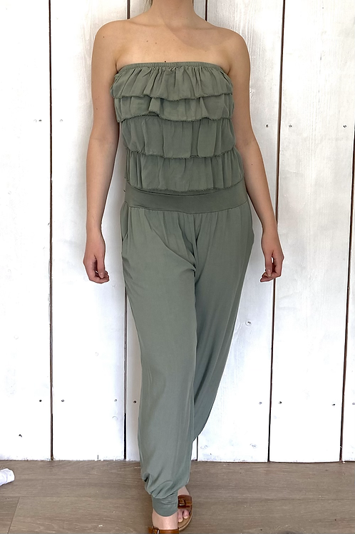 Frill Strapless Jumpsuit