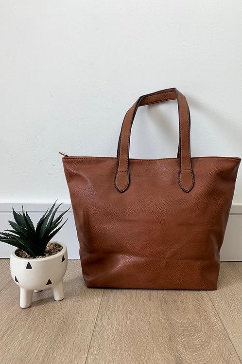 Brown Tan strap Handbag