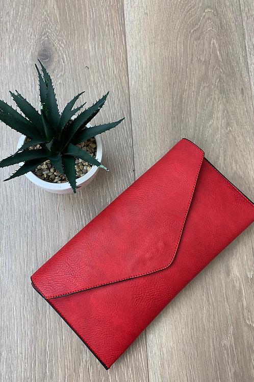 Red Envelope Clutch Bag