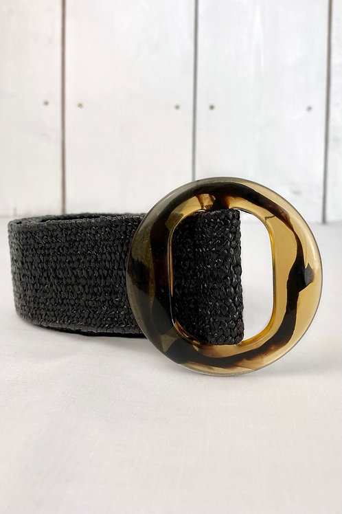 Black Tortoise Shell Belt