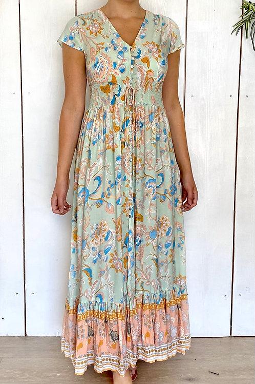 QED Shirring Waist Maxi Dress