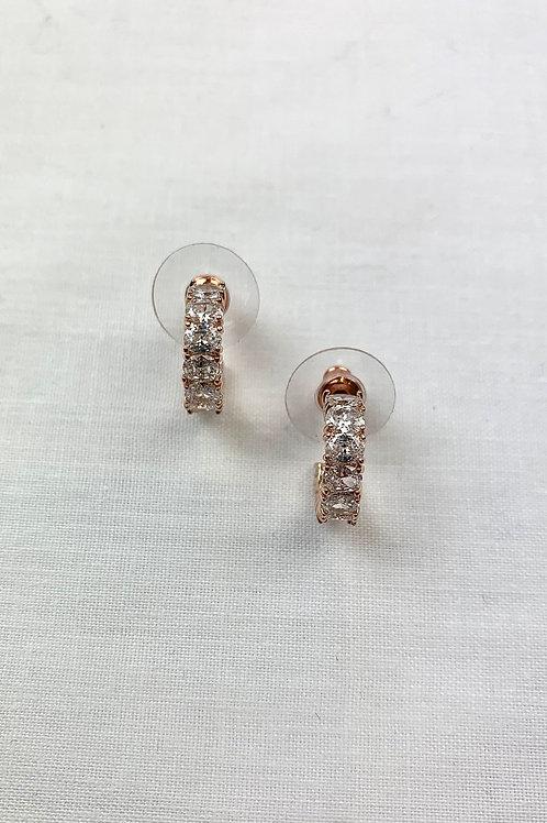 Rose Gold Diamond Hoops