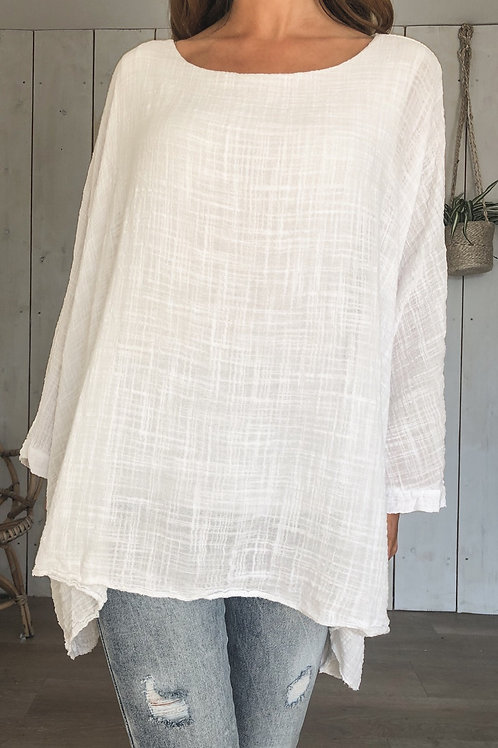 Cheesecloth Cape Top