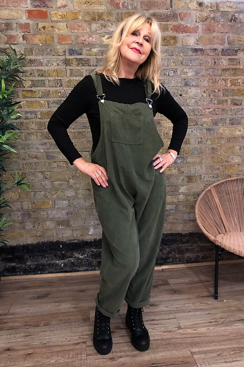 Corduroy Dungarees with Buttons
