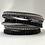 Thumbnail: Black/ Purple Texture Layer Bracelet