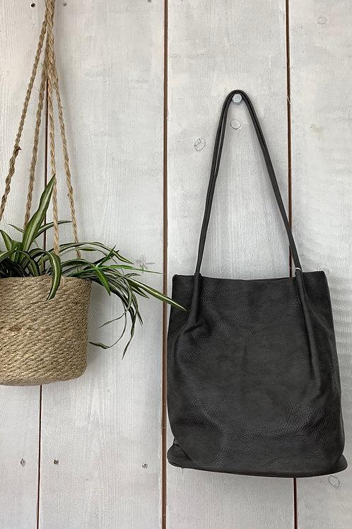 Charcoal Bucket Bag