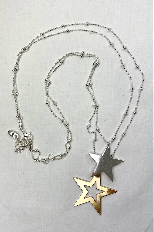 Gold/ Silver Bead Star Necklace