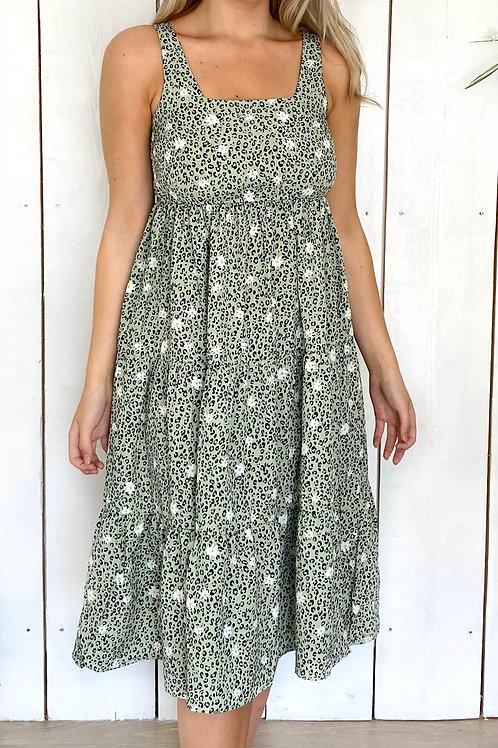 Tiered Daisy Midi Dress
