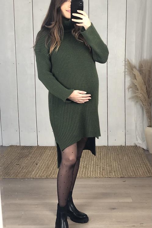 Chunky Knit Roll Neck Dress/Tunic