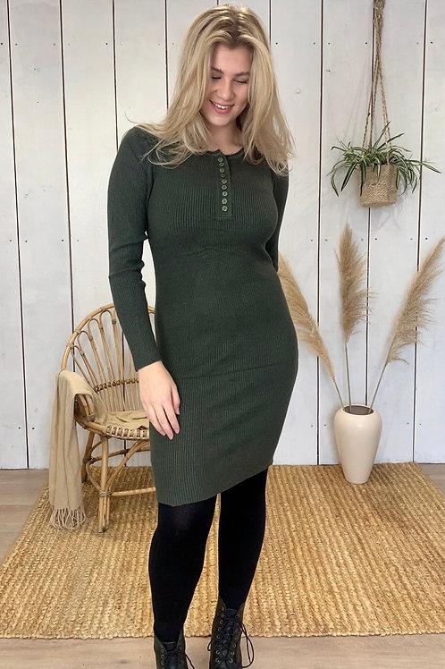 Long Sleeve Button Dress