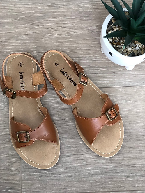 Soft Tan Leather Sandals