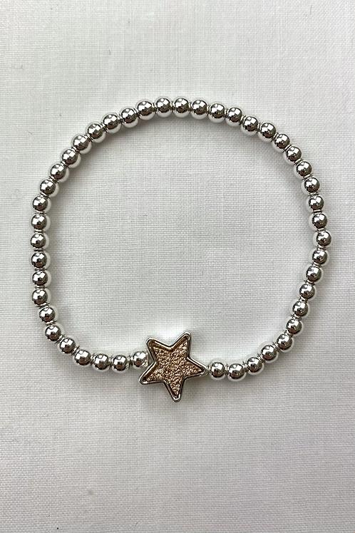 Rose Gold Glitter Star Bracelet