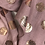 Thumbnail: Dusty Pink Scarf With Rose Gold Spots