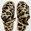 Thumbnail: Brown Leopard Sport Open Toe Slipper