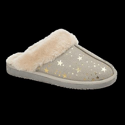 Tilly Light Grey Slippers