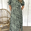 Thumbnail: Mint Animal Print High Neck Midi Dress