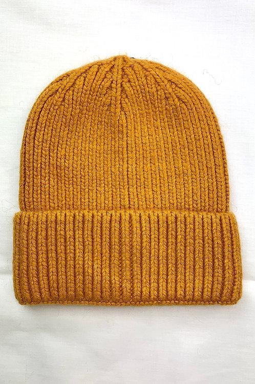 Mustard Knitted Beanie Hat