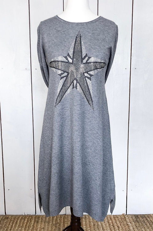Diamanté Star Soft Knit Dress
