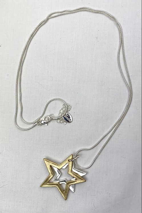 Silver/ Gold Star Necklace