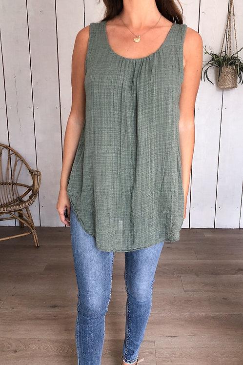 Plain Cheesecloth Vest