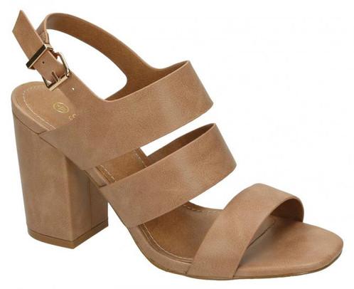 fe56898d296 Block Heel Three Strap Sandals