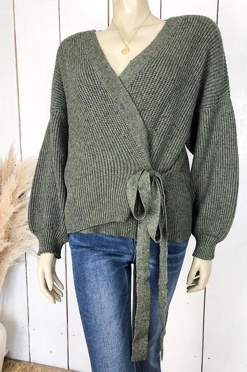 Chunky Knit Wrap Cardigan