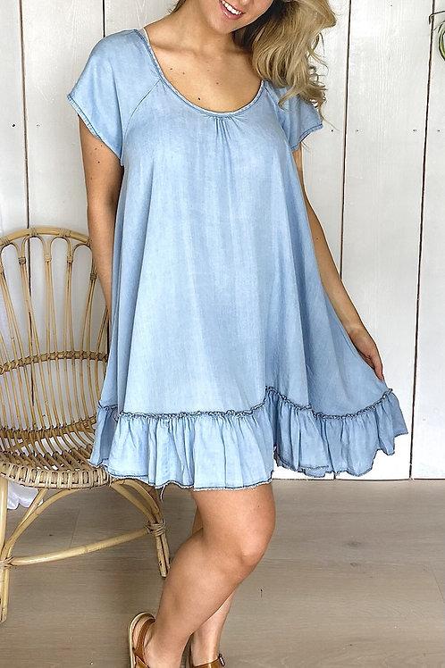 Light Denim Smock Dress