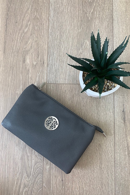 Charcoal Silver Disc Clutch