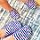 Thumbnail: Adult Stripe Flamingo Slipfree Shoes