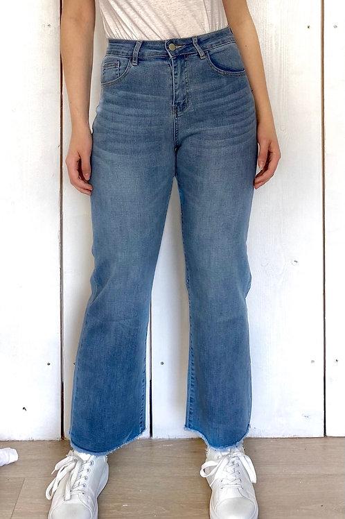 Light Denim Wide Leg Jeans