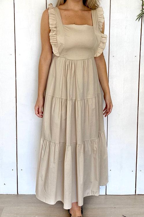 Bow Back Long Dress