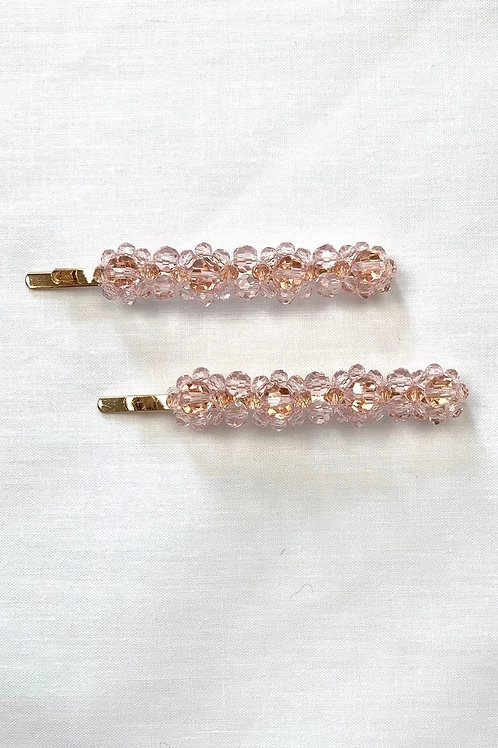 Paired Pink Diamond Clips