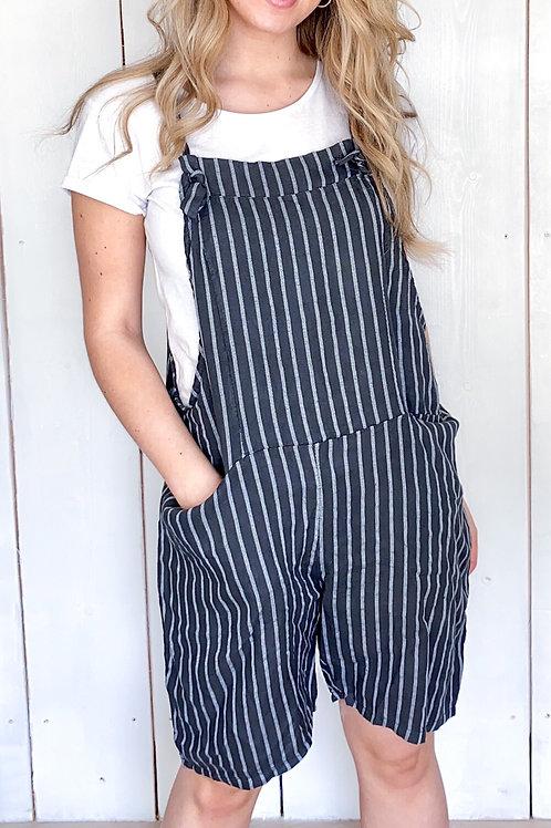 Striped Linen Playsuit