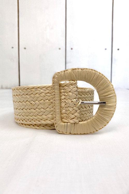 Beige Straw Belt