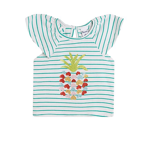 Stripe pineapple T-shirt