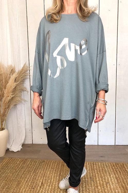 Oversized 'Love' Lightweight Sweatshirt