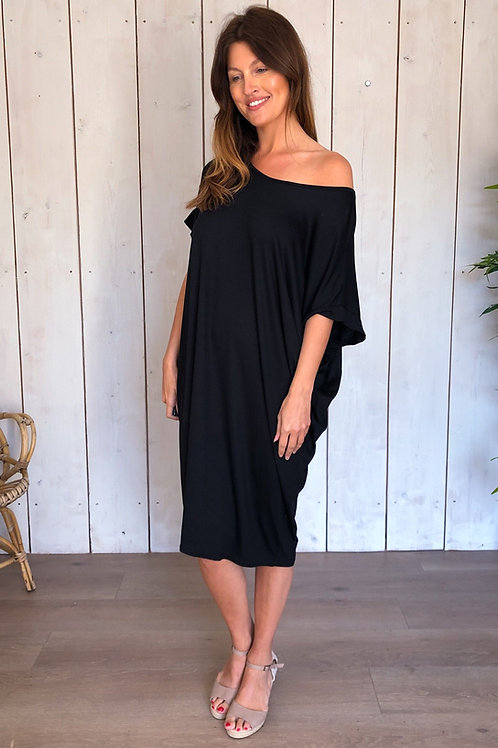 Black Bar Back T-Shirt Dress