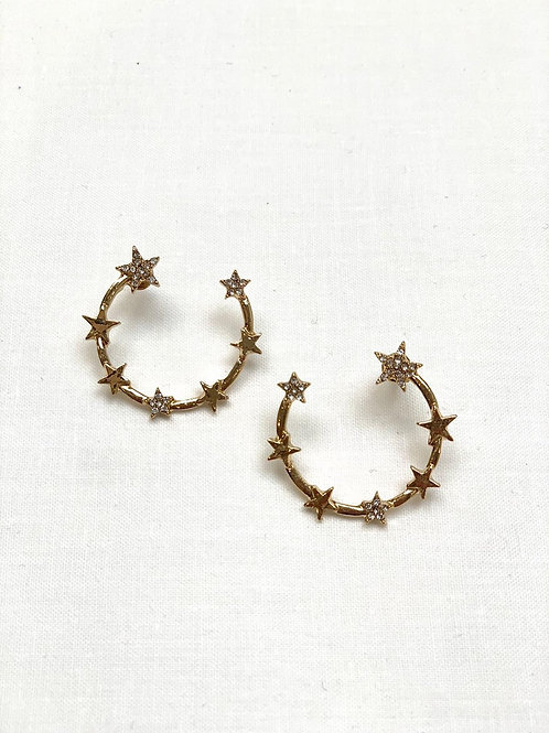 Gold Star Spotted Hoop