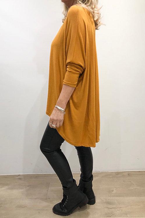 Lightweight Soft Knit High/Low Top