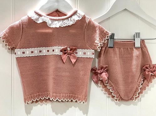 Dusky pink knitwear set