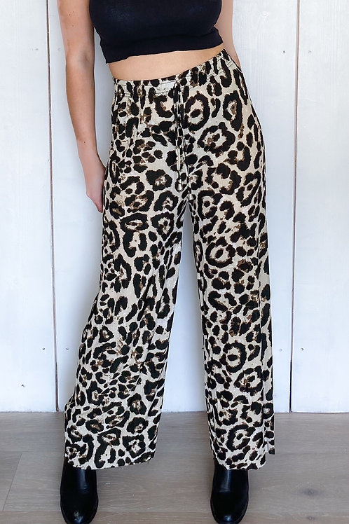 Leopard Print Stretchy Flares