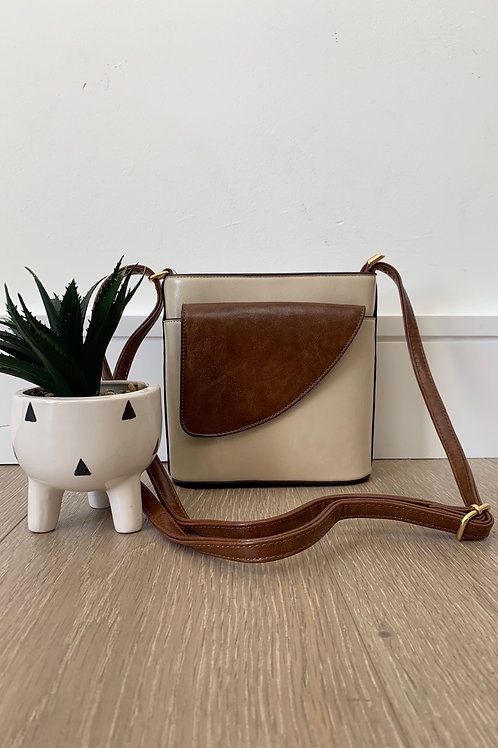 Cream Saddle Bag
