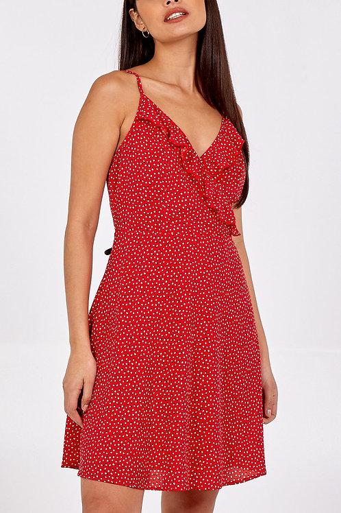 Cami Frill Wrap Dress