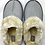 Thumbnail: Silver Sparkle Fluffy Slippers