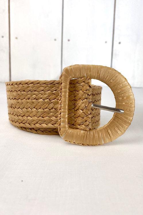 Tan Straw Belt
